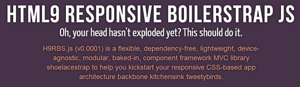 HTML9 Responsive Boilerstrap JS